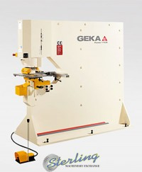 brand new geka puma series hydraulic (deep throat) ironworker single end punch with 5 power settings Puma 110SD