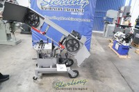 brand new horizontal and vertical dual mitering portable bandsaw (head miters left and right) 1 phase, 115 volts HVBS10DMW