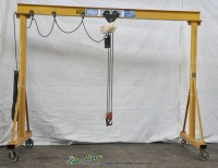 used coffing 2 ton hoist with portable a frame gantry with casters
