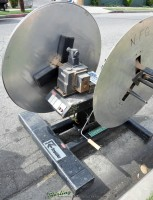 used rapid-air power double end reel RS68A