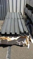 brand new metal barrier border fencing fencing b-deck roofing sheets and siding.  blast mitigation and anti-ram vehicle barrier security fencing.