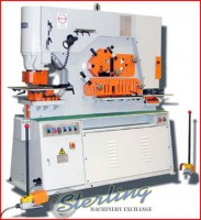 brand new u.s. industrial hydraulic ironworker with dual operator stations USHI-66T-DO-XT