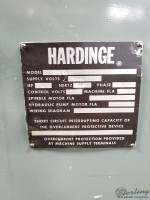 used hardinge precision tool room lathe with inch threading HLV