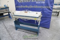 used (demo machinery) baileigh manually operated straight hand brake HB-4816