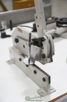 used (demo machinery) baileigh multi-purpose manually operated gear actuated metal shear MPS-12