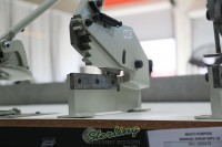 used (demo machinery) baileigh multi-purpose manually operated gear actuated metal shear MPS-8G