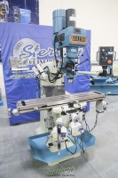 used (demo machinery) baileigh variable speed vertical milling machine (inverter head) with 2 axis dro and x/y/z power feeds VM-949-3