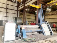 used faccin hydraulic 4 plate roll machine with support 4HEL