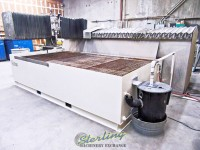 used flow cnc independent flying bridge waterjet cnc water jet with 100 hp intensifier pump, dual intensifier or dual head setup (guaranteed by flow dealer)  IFB 6' X 12'