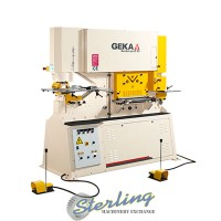 brand new geka dual cylinder ironworker with bending station BENDICROP 85S