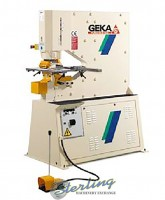 brand new geka puma series hydraulic (deep throat) ironworker single end punch with 5 power settings Puma 80SD