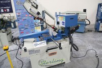 used (demo machinery) baileigh horizontal dual mitering (swivel) semi-automatic metal cutting band saw BS-350SA