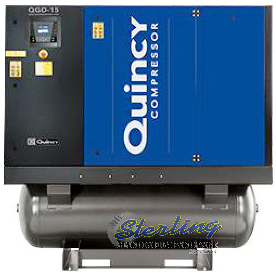 Brand New Quincy Rotary Air Compressor With Integrated