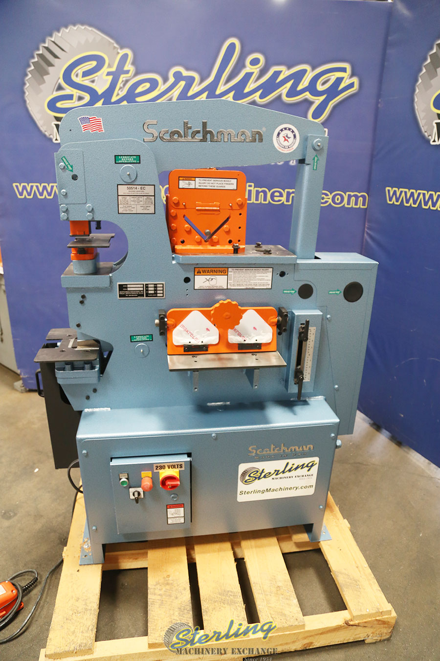 Brand New Scotchman Hydraulic Ironworker With Built In