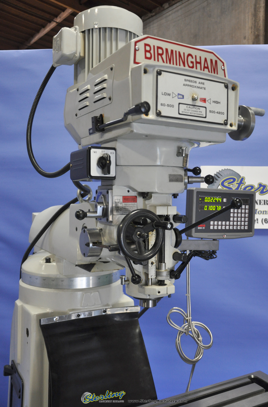 Brand New Birmingham Variable Speed Vertical Milling